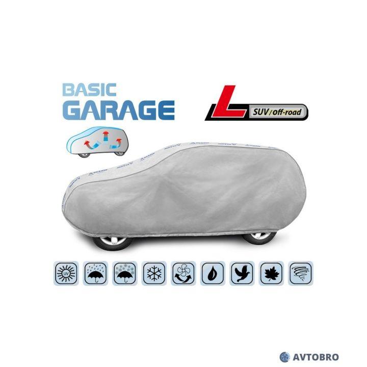 """Тент автомобильный для джипа """"L"""" 4.30см-4.60см, SUV/Off Road """"Basik Garage"""""""